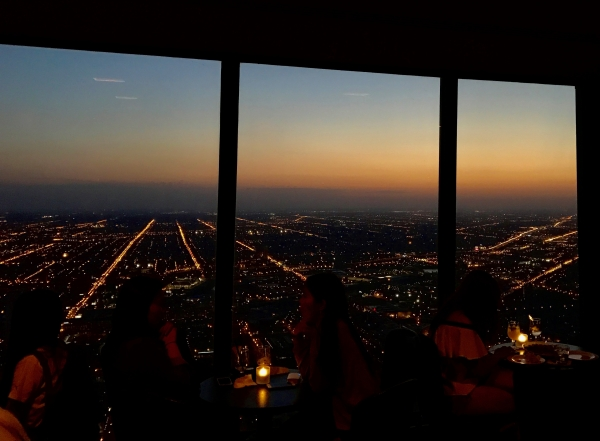 Sunset at the Signature Lounge at the 96th