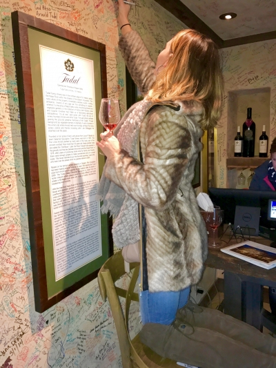 Tudal Winery Wall Signing in Napa California
