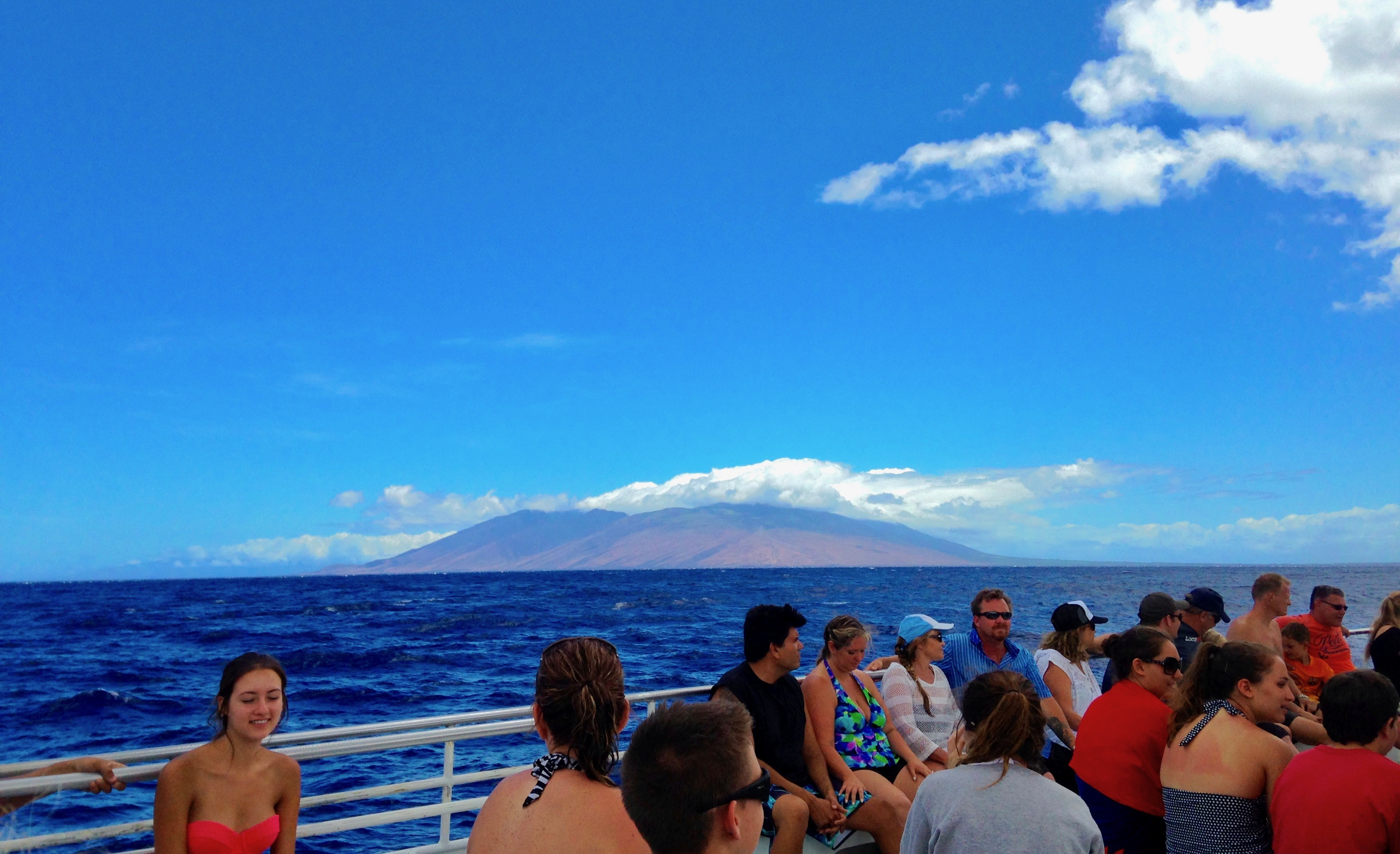 Maui Hawaii from boat ride snorkel trip to Molokini Crater