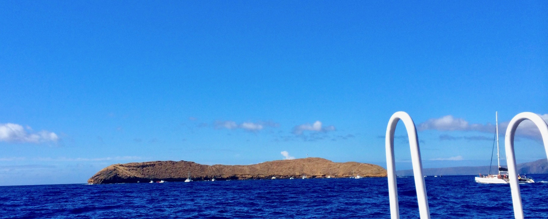 Molokini Crater Above Water in Maui, Hawaii