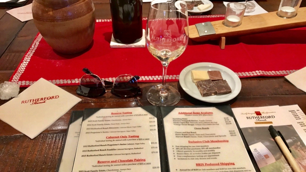 Rutherford Ranch Wine & Chocolate Tasting in Napa